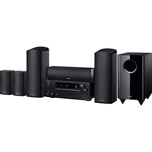 Onkyo HT-S7805(B) 5.1 Sistema de Cine en casa con Receptor AV y Altavoces (160 W/Canal, multizona, Dolby Atmos, WiFi, Bluetooth, Streaming, Apps de música, Internet Radio), Negro