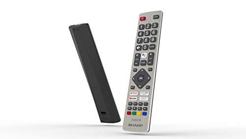Sharp AQUOS Android 9.0 Google Assistant DTS VirtualX Smart TV Bluetooth Suono Harman Kardon SAT Internet WiFi Youtube Netflix 4xHDMI 2xUSB 1 SDcard Uscita Cuffie, Scart e Audio Digitale, 55 Pollici