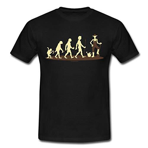 (Spreadshirt Evolution Gärtner Bauer Rahmenlos Geschenk Männer T-Shirt, XL, Schwarz)