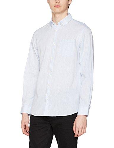 Jack & Jones Jorbech Shirt Ls, Chemise Casual Homme Bleu (Stone Blue Fit:reg)
