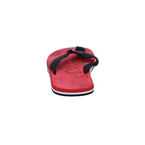 s.Oliver 5-17203-38 597 Herren Pantolette sportlicher Boden Rot (Schwarz)