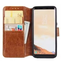 BCIT Samsung Galaxy S8 Plus Leder Handytasche - Geldbörse mit Kartenfach abnehmbar Magnet Handy Schutzhülle für Samsung Galaxy S8 Plus - Blau Braun