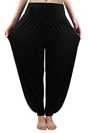 8ba268c0024 Whitewhale Women s Knits Comfortable Harem Yoga Pants Long Baggy Sports  Workout Dancing Trousers