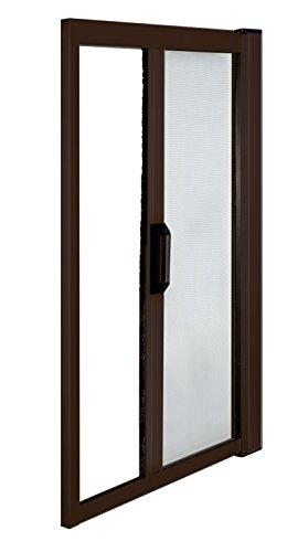 Dettagli su zanzariera in alluminio a molla cm 60/160x250 oriz marrone porta e finestra
