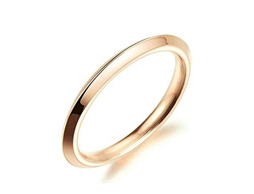 Jiedeng Schmuck Damen Ringe aus Edelstahl Ring Glatte Oberfläche Einfacher Freundschaftsringe Verlobungsringe Trauringe Ehering für Damen...