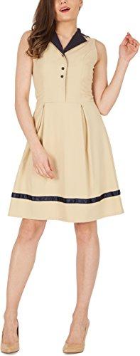 BlackButterfly 'Hazel' Vintage Clarity Kleid im 50er-Jahre-Stil (Champagner, EUR 50-4XL)