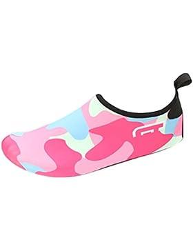 Zhhlinyuan Niños Zapatos de Agua descalzo Barefoot Respirable Calcetines de natación Aire Libre Piscina de Playa...