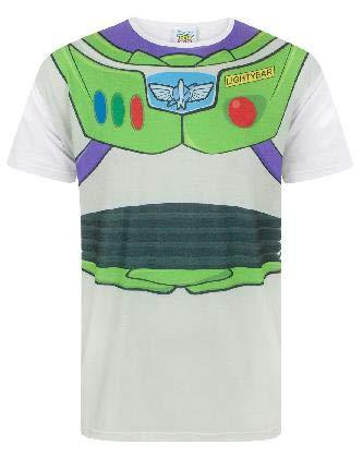 Disney Toy Story Buzz Lightyear Costume Men's T-Shirt (Herren Buzz Lightyear Kostüm)