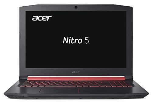 Acer Nitro 5 AN515-51-572A 39,6 cm (15,6 Zoll Full-HD IPS matt) Gaming Notebook (Intel Core i5-7300HQ, 8GB RAM, 128GB SSD, 1TB HDD, GeForce GTX 1050Ti (4GB VRAM), Win 10) schwarz/rot -