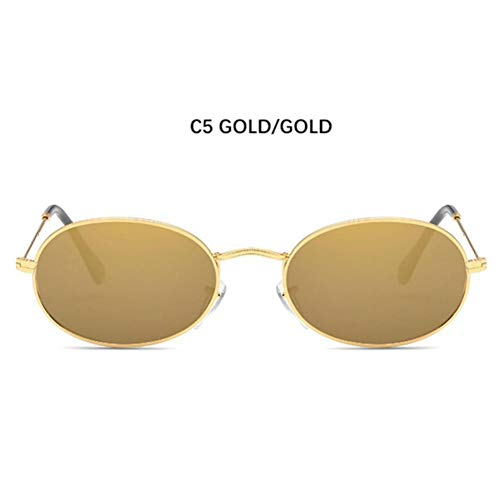 YLNJYJ Gafas De Sol Retro De Moda Clásicas De Los Años 90 De La Llegada para Los Hombres De Las Mujeres Forma Oval Marco Atractivo Estupendo Ligero Estupendo