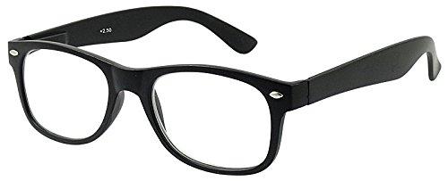 KOST 2er Set Klassische Lesebrille +1,5 schwarz SIE & IHN Flexbügel Lesehilfe Fertigbrille