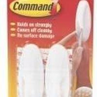 Command 3M Adhesive Medium Oval Hook Pack of 2 White 17081 3M76908