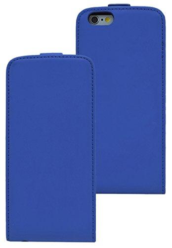 Premium Flip-Style Tasche für iPhone 6 / 6s (4.7 Zoll) / Handytasche Etui Hülle Schutzhülle (Spezielle Anfertigung) in weiss Blau
