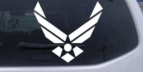 Nos aire fuerza militar coche ventana pared portátil adhesivo–-Blanco 10en x 9en
