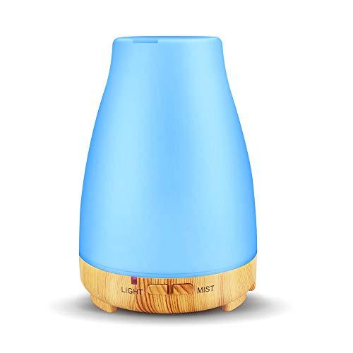 NEWKBO USB Aroma Difusor, Aceites Esenciales Aromaterapia Aceites Esenciales Humidificador 7 Colores LED 200ml Apagado Automático para Yoga, Oficina, SPA, Hogar, Oficina, Dormitorio, Niños, Gimnasio