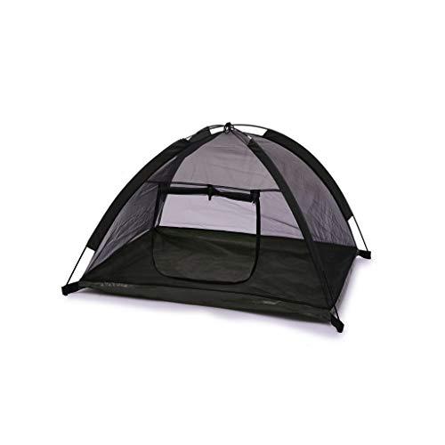 WLcute Zwinger-Hundezelt, tragbares wasserdichtes Campingzelt Pop-up-Strandzelt mit faltbarem Reinigungsnetz für Indoor-Outdoor-Reisen Camping mit Haustier,Black
