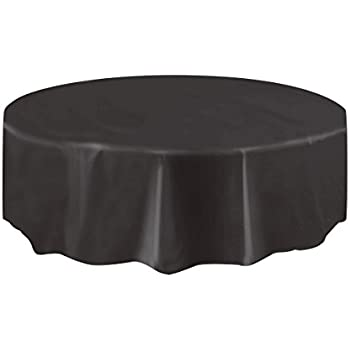 Awesome This Item Round Black Plastic Tablecloth, 7ft Part 12