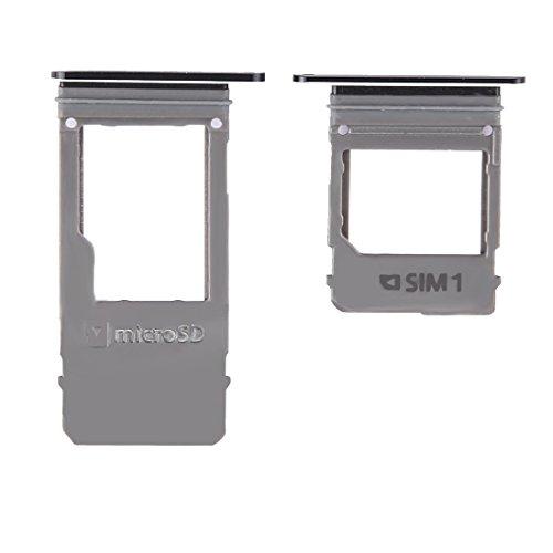 CHQM SIM-Karte einlegen PH-SIM-Kartenfach und Micro-SD-Kartenfach, Einzelkarte für Galaxy A5 (2017) / A520 & A7 (2017) / A720 (Schwarz) (Farbe : Black)