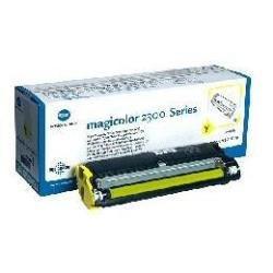 Qms Konica Minolta Magicolor laser toner printer cartridge 2300 2300W 2300DL 2300EN 2350 Yellow ( Standard Capacity)