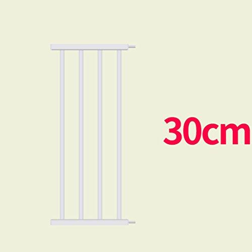 Barrière de sécurité Extensions De Porte De Bébé en Métal Blanc (Taille : 30cm)