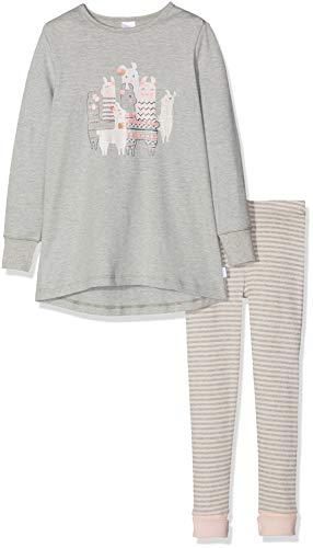 Schiesser Mädchen Md Anzug lang Zweiteiliger Schlafanzug, Grau-Mel. 202, 128