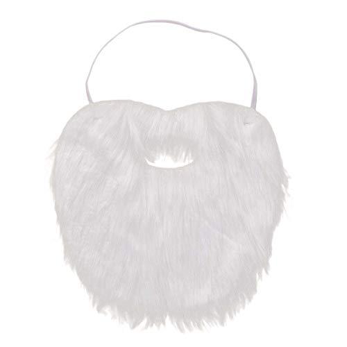 BESTOYARD Weihnachtsmann Bart Weihnachtsfeier Gefälschte Schnurrbart Maskerade Cosplay Kostüm Zubehör Gesichts Spiel Whisker Bart Party Supplies 3 STÜCKE