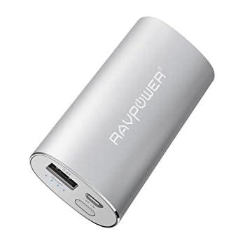 Chargeur Portable Universel 6700mAh RAVPower (Sortie USB iSmart 2.4A & Entrée 2A) Batterie Externe Métallique de Secours Ultra Compacte pour iPhone, iPad, Samsung Galaxy, Windows Phone, et plus. - Argent