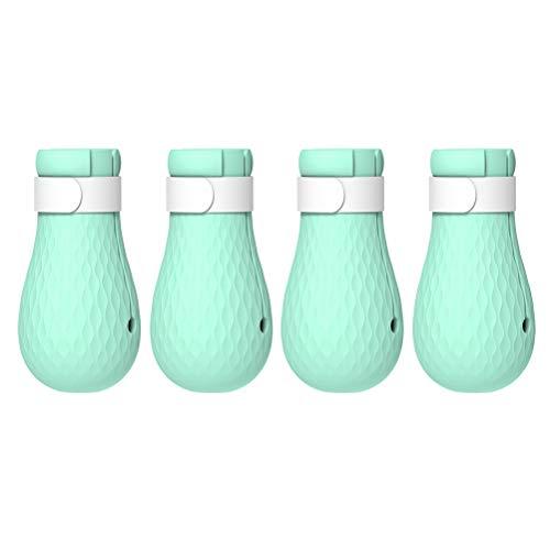 POPETPOP Katzen Pfotenschutz Waschmittel Kratzschutz Füße Abdeckung Silikon zum Baden 4 Stücke (Grün)