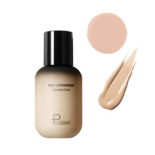Harpily Gesicht Auge Concealer Foundation + Puff Set Concealer Cover FlüSsigmatt Full Coverage Concealer Cover Shadows Skin Care Foundation Oil Control Erhellen Sie Den -