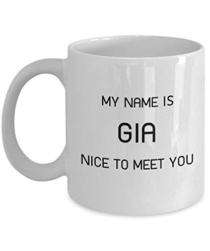 Einzigartiges Geschenk für weiße Kaffeetasse Gia 11oz - Personenname 16 Oz Sip-top