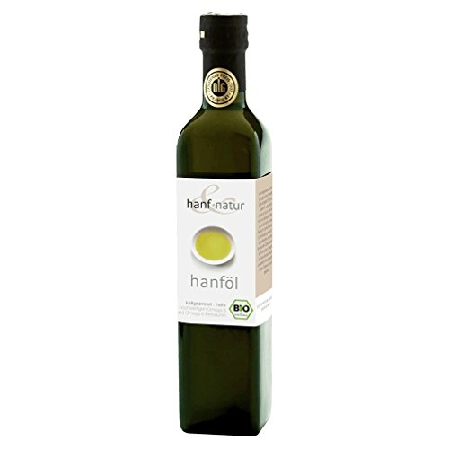 Speisehanf-Öl 100 ml - aus kontrolliert biologischem Anbau Rohkost-Qualität in praktischer Probiergröße