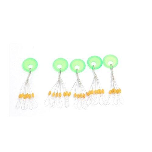 sourcingmap® ovale Form 6 in 1 Kunststoff braun grün Angelgerät Schwimmer Zubehör 5 Stücke