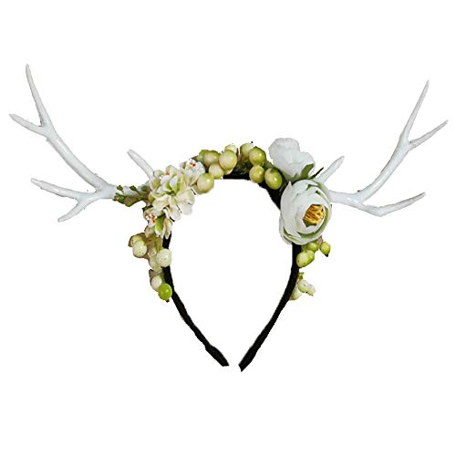 Women's Kostüm Jasmin - HLCE Weihnachten Ostern Party Green Berry Jasmin Elch Stirnband Wald Cosplay Kostüm Frauen Lady Girl
