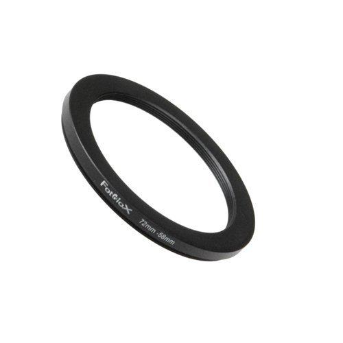 Fotodiox Step Down Ring, Metall, eloxiert, Schwarz, Keine, schwarz, 72-58mm 72mm Step-down Ring