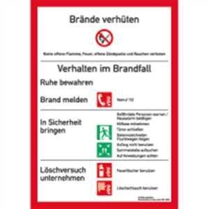 Schild PVC Brandschutzordnung (ohne Brandmelder) 29,7x21 cm