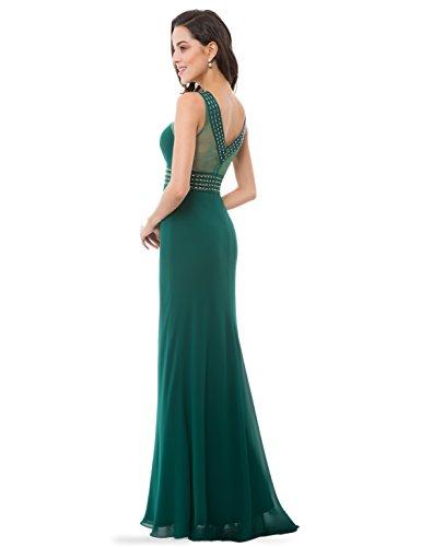 Ever Pretty -  Vestito  - plissettato - Donna Dark Green