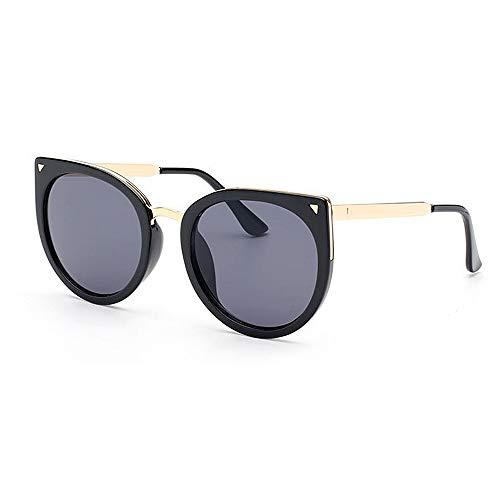 HUDEMR Damen Sonnenbrille Mode Dame Big Cat Eye Rahmen UV-Schutz Sonnenbrille Farbe Objektiv Fahren im Freien Outdoor-Sonnenschutz Grundausstattung (Farbe : C3)