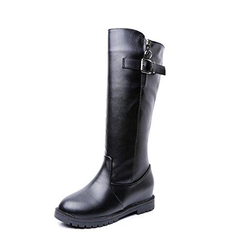 Meijia - Stivali da Motociclista da ragazza' donna , (style1-Black), 37