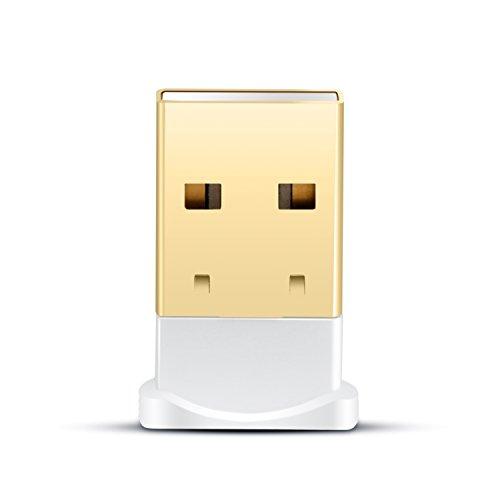 CSL - USB nano Bluetooth V4.0 Adaptador con LED | Tecnología Class 4.0 | El estándar más moderno | Plug & Play | compatible Windows 10 | blanco