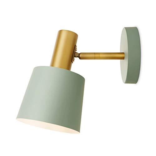 LZY lámpara de Pared- Lámpara de Pared Dormitorio Luz de Lectura Luz IKEA con Interruptor Enchufe Línea Brillante Lámpara de Pared Lámpara de Pared 12x12cm (Color : Blue, Size : 12x12cm)