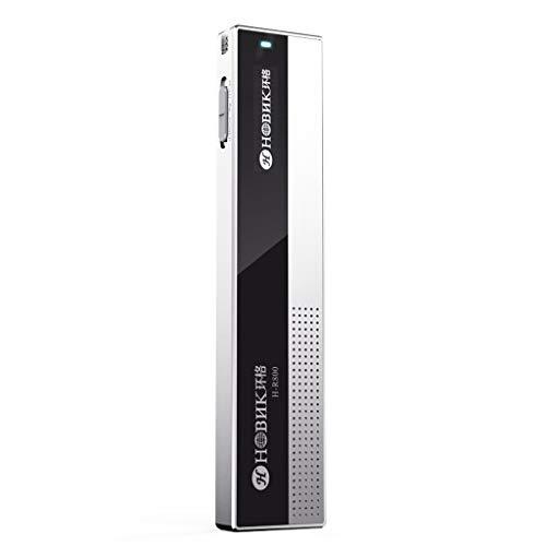 AIMS Digitaler Voice-Recorder, 32 GB tragbare, sprachgesteuerte Remote-HD-Timer-Aufnahme mit Rauschunterdrückung (Color : Silver) (Voice-recorder Mit Timer)