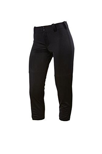 Intensity Damen Women's Slap Hit Low Rise Pant Caprihose, schwarz, Small (Pants Softball Schwarz)