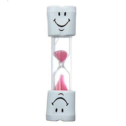 Sungpunet Rose enfants Brosse à dents Timer-2Minute Smiley Sablier pour brossage dents pour enfant