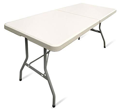 Carparts-Online 33714 Garten Party klapp Tisch mit Tragegriff creme Beige Hell 183x75x74 CM