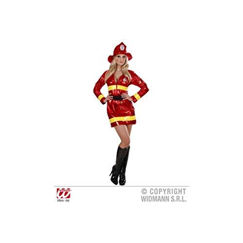 Kostüm Firewoman - Widmann 74631 - Erwachsenenkostüm Feuerwehrfrau Kleid, Gürtel und Hut, Größe S