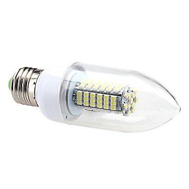 FDH 7W E26/E27 Luces de velas LED SMD de C35 120 3528 630 lm blanco cálido, blanco frío / CA 220-240 V, BLANCO CÁLIDO.