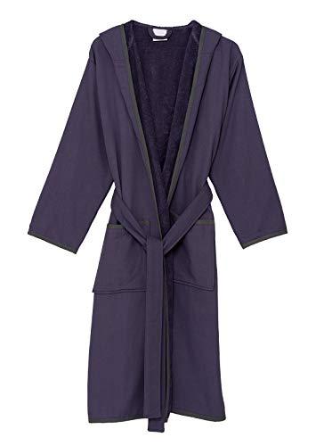 TowelSelections Damen Bademantel mit Kapuze und Baumwolle gefüttert, Frottee, hergestellt in der Türkei - Violett - Large/X-Large - Knit Womens Pyjamas