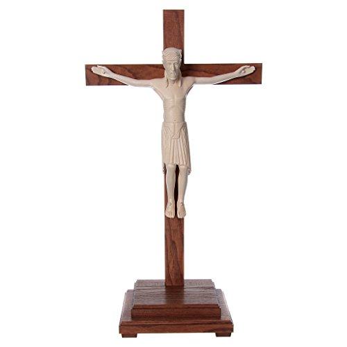 Altenstadt Tisch Kruzifix Grödnertal Wachsholz 52cm