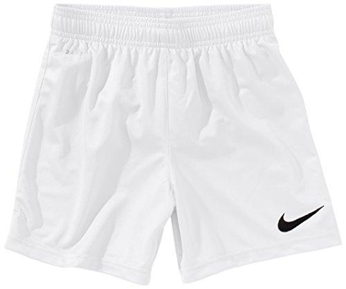 NIKE Pantaloni corti Bambino a maglia con slip interno Park II 448262-100 Colore Bianco (White/Black), (Nike Slip)