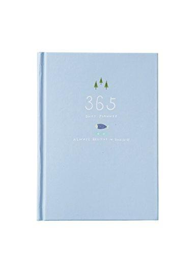 Carino 365 giorni Planner Ricariche Giornaliero Settimanale Mensile Calendario laptop Bound To-Do-List Libro Agenda Organizer di cancelleria della scuola, Blue Light